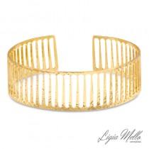Bracelete Semijoia Gride- Ouro Amarelo
