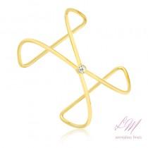 Bracelete semijoia fina regulável com ponto de luz
