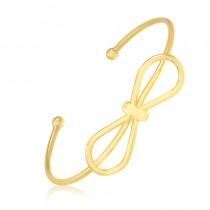Bracelete Semijoia União - ouro amarelo