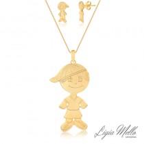 Conjunto Semijoia Filho - Ouro amarelo