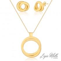 Conjunto Semijoia Jazz - ouro