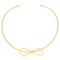 Choker Semijoia União - ouro amarelo