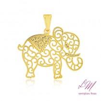 Pingente semijoia filigrana Elefante